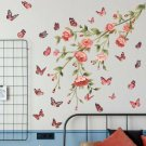 Colorful Butterfly Branch Flower Wall Sticker Quote Art Decal Home Decor DIY UK