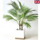 5/9 Heads Artificial Fern Bouquet Palm Leaves Green Plastic Plants Home Decor UK