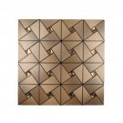 Aluminum Mosaic Tile 4 Pack Backsplash Sticker Self Adhesive Home Decro 30*30cm