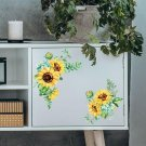 1pc Kit Removable Sunflower Wall Sticker Kitchen Waterproof Decal Home Decor PVC