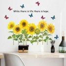Removable Sunflower Wall Sticker Kitchen Waterproof Decals Home-Decor PVC DIY