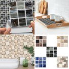 10 x 10cm Self Adhesive Tile Wall Sticker Home Decal DIY Floor Kitchen Room Deco