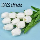 Artificial PU Tulip Flowers Fake Flower Bouquet Real Touch Home Party Decor