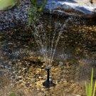 Solar Pump Powered Floating Water Fountain Birdbath Home Garden Pool Decor UK