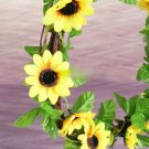 7.8FT Artificial Sunflower Garland Fake Flowers Ivy Silk Leaf Plants Home Decor