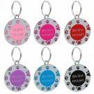 Funny Dog Pet Cat Tag Customised Personalised Engraving Novelty ID Name Number