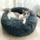 Pet Dog Cat Sleep Bed Puppy Soft Plush Round Calming Nesting Basket Cushion UK