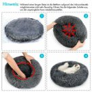 Pet Donut Dog Bed Cat Calming Comfy Shag Fluffy Warm Bed Nest Mattress Donut Pad