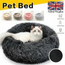 Comfy Calming Dog Warm Bed Pet Cat Round Super Soft Plush Marshmallow Puppy Bed