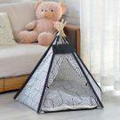 Folding Pet Tent House Dog Cat Puppy Playing Kennel Bed With Cushion Name Banner