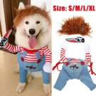 Pets Dogs Halloween Costume Party Chucky Cosplay Poppy Fancy Dress Jumpsuits UK