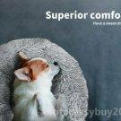 Pet Dog Cat Calming Beds Comfy Shag Warm Fluffy Bed Nest Large Fur Donut Pad UK