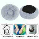 S-XL Large Dog Cat Pet Calming Nest Pad Washable Plush Donut Bed Kennel Cushion