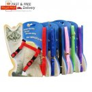 Cats Ferrets Pets Adjustable Chest Harness Collar With Leash Lead Set 11 Colors