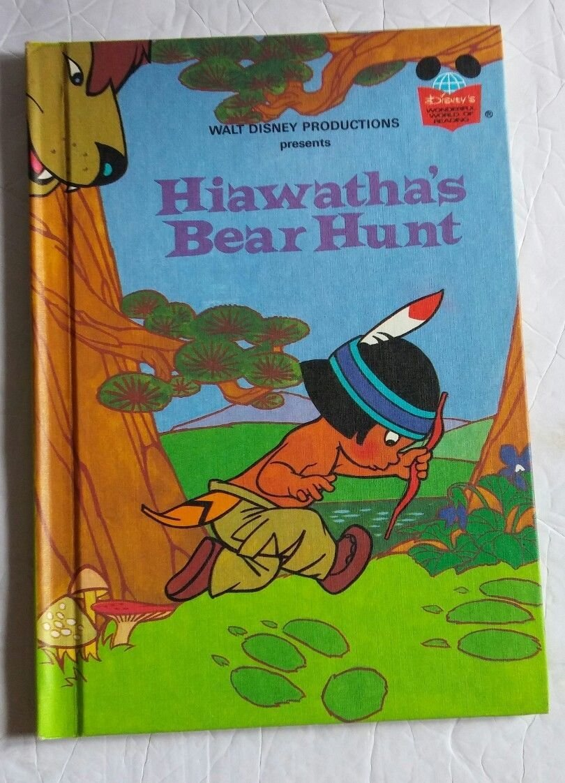 Walt Disney Productions Presents Hiawatha's Bear Hunt Hardcover Book