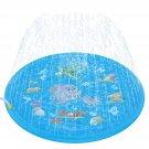 3-in-1 Sprinkler Splash Pad 68in-Diameter Outdoor Sprinkle Wading Pool
