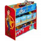 Toy Story 4 Kids Bedroom Toy Storage Unit with 6 Bins by HelloHome, 60cm (H) x 63.5cm (W) x 30cm (D)