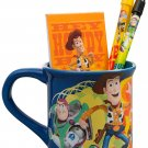 Disney Toy Story 4 Mug Filled with Stationery, Ceramic Cup,, Featuring Woody, Buzz and Jess