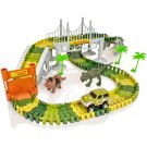 Create-A-Track Jurassic Dino World Flexible Race Track & Light Up Car Playset