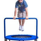 "Blue 36"" Kids Mini Trampoline with Handle, Safety and Durable Toddler Trampoline"