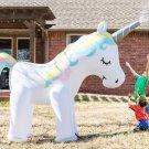 Giant Inflatable Unicorn Garden Sprinkler 6 Ft Tall, Magical Unicorn kids outdoor water sprinkler