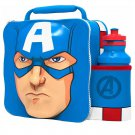 3D LUNCH BAGS WITH SPORTS BOTTLE SET (CAPTAIN AMERICA)