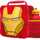 3D LUNCH BAGS WITH SPORTS BOTTLE SET (IRON MAN
