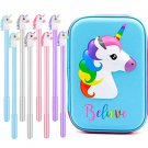 Unicorn Pencil Case Pen Set - Cute Unicorn Pencil Box with Colorful