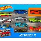 Hot Wheels 154213 Cars, Multi-Colour, Count 10