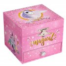 Ballerina Musical Jewellery Box, Small Wind-Up Music Box with Storage,