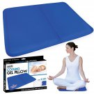 Cooling Gel Pillow for Relief of Migraine Headache, Night Sweat, Fever - 30x40 Chill Mat/Laptop Pad