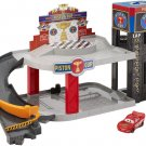Disney Pixar Cars Piston Cup Racing Garage, Toy Car Playset with Lightning McQueen Toy Car