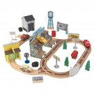 KidKraft 18015 Disney Pixar Cars 3 Thomasville Wooden Race Track Set, toy car road play set (53 pcs)