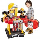 Young Choi's 110 Pieces Toddlers Toy Shop Tools for Boys, Toy Workbench tool