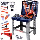 deAO WKS-B 2-in-1 Workshop and Tools Carrycase Play Set with Fold up