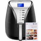 Air Fryer 3.6L 1500W with Neon Blue Display, Electric Hot Air Fryers Oven