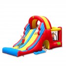 Happy Hop Bouncy Castle, 600x285x215CM, Inflatable Bouncer with Air Blower