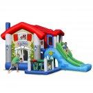 Happy Hop Bouncy Castle, 455x330x265CM, Cartoon Castle with Slide