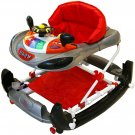 Bebe Style Deluxe F1 Racing Car Walker and Rocker, Grey/Red