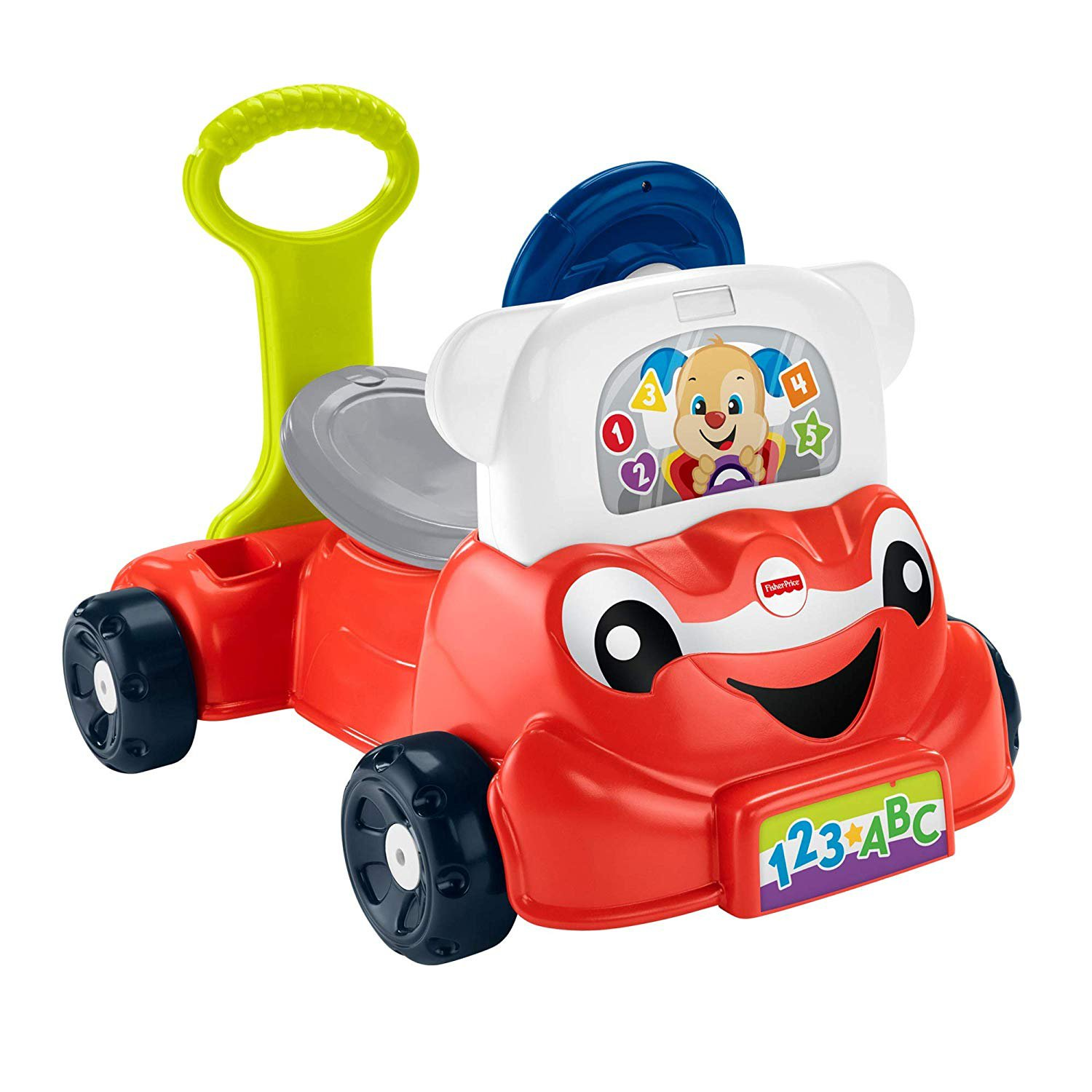 Fisher-Price GCY33 Laugh and Learn 3-in-1 Smart Car, Interactive Learning