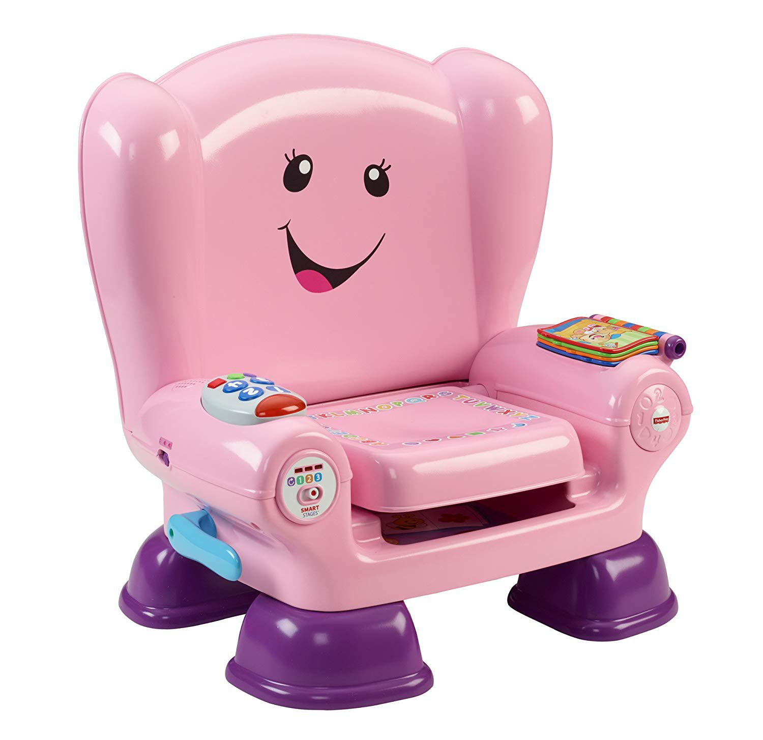 Fisher-Price CFD39 Smart Stages Pink Chair, Activity Chair Toy for