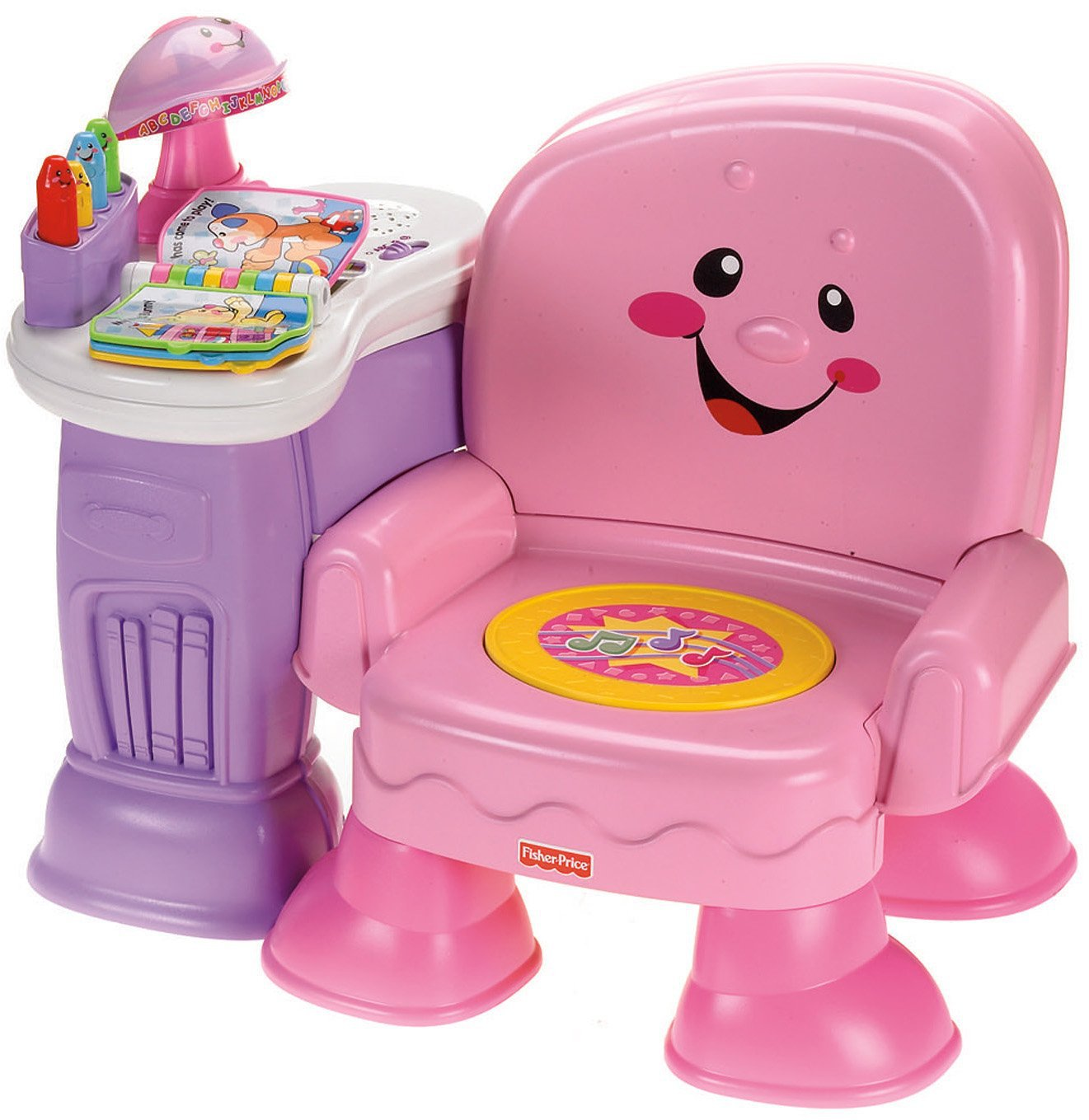 Fisher-Price Laugh & Learn Musical Learning Chair (Pink)