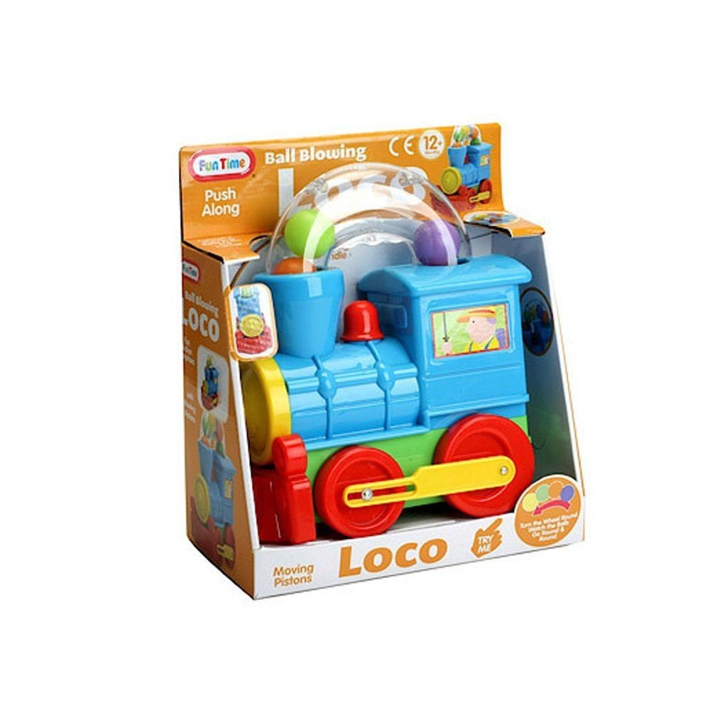 Pushalong Ball Blowing Loco Train Toy- Suitable From 12 Months