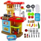 KC2-R Little Chef' Kitchen Play Set with 30 Accessories, Light and Sound Features (Red)