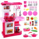Little Chef' Kitchen Play Set with 30 Accessories, Light and Sound Features (Pink)