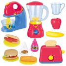 Assorted Kitchen Appliance Toys with Mixer, Blender ,Toaster and Play Food