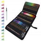 72 Watercolour Pencils Set in Personalised Big Pencil Case Zip-Up Set