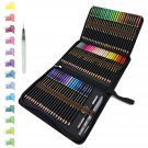 72 Watercolour Pencils Set in Personalized Big Pencil Case Zip-Up Set Easy to Store and Protect