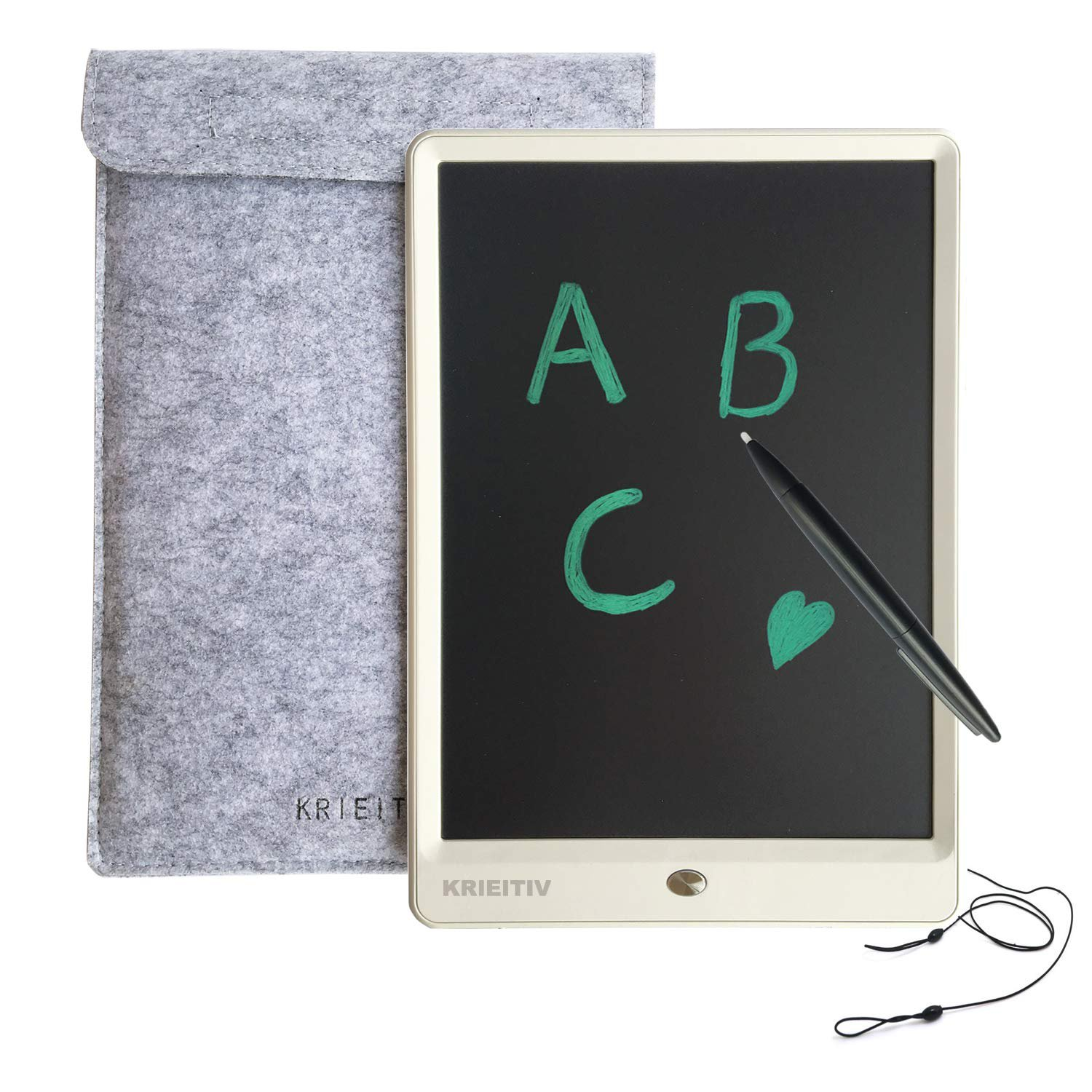 10 Inch LCD Writing Tablet,KRIEITIV 10 Inch LCD Drawing Board Message Board
