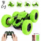 4WD RC Stunt Car - 2.4Ghz Double Sided 360° Spin&Flip Remote Control Racing Truck for Kids,Green